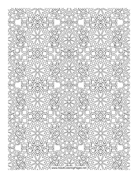 flower mosaic coloring pages | Flower Mosaic Coloring Page